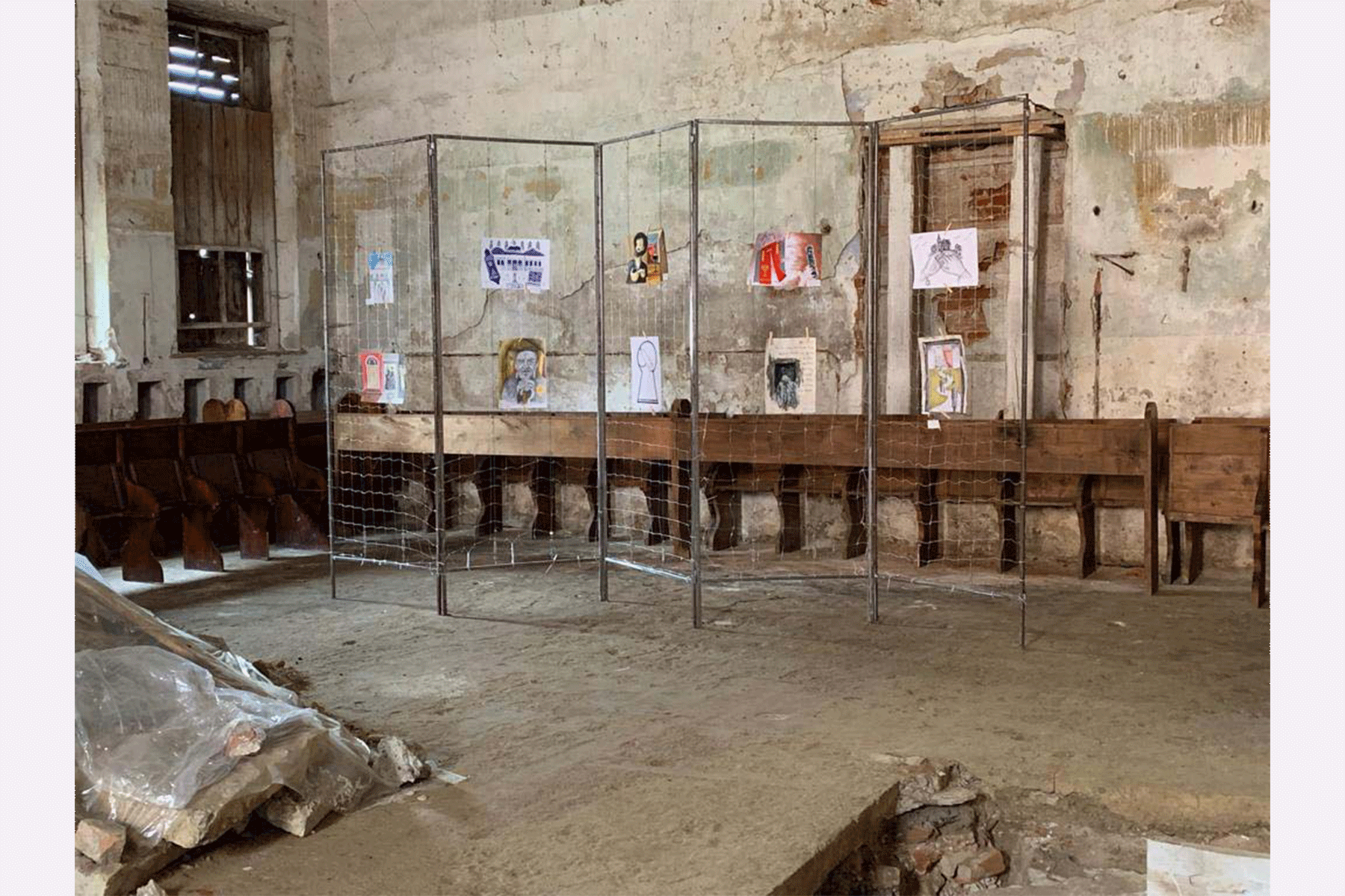 Display of the Artwork Contest submissions inside the Old Synagogue