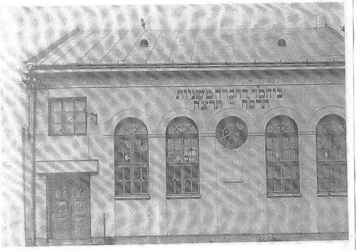 1938, Chevra Mishnayot Synagogue