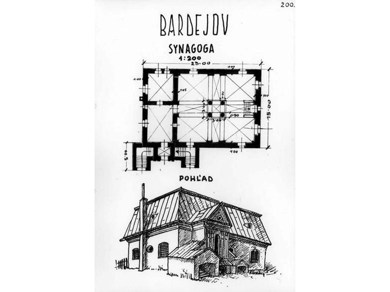 Floor plan of Bardejov Old Synagogue