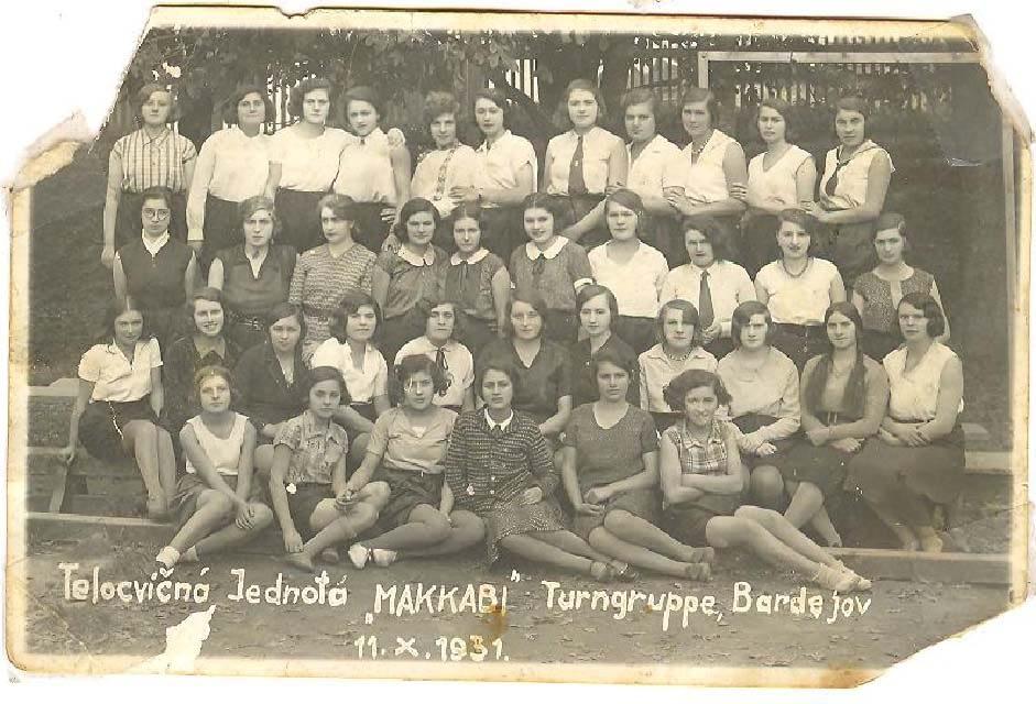 1931 Bardejov Maccabee girls