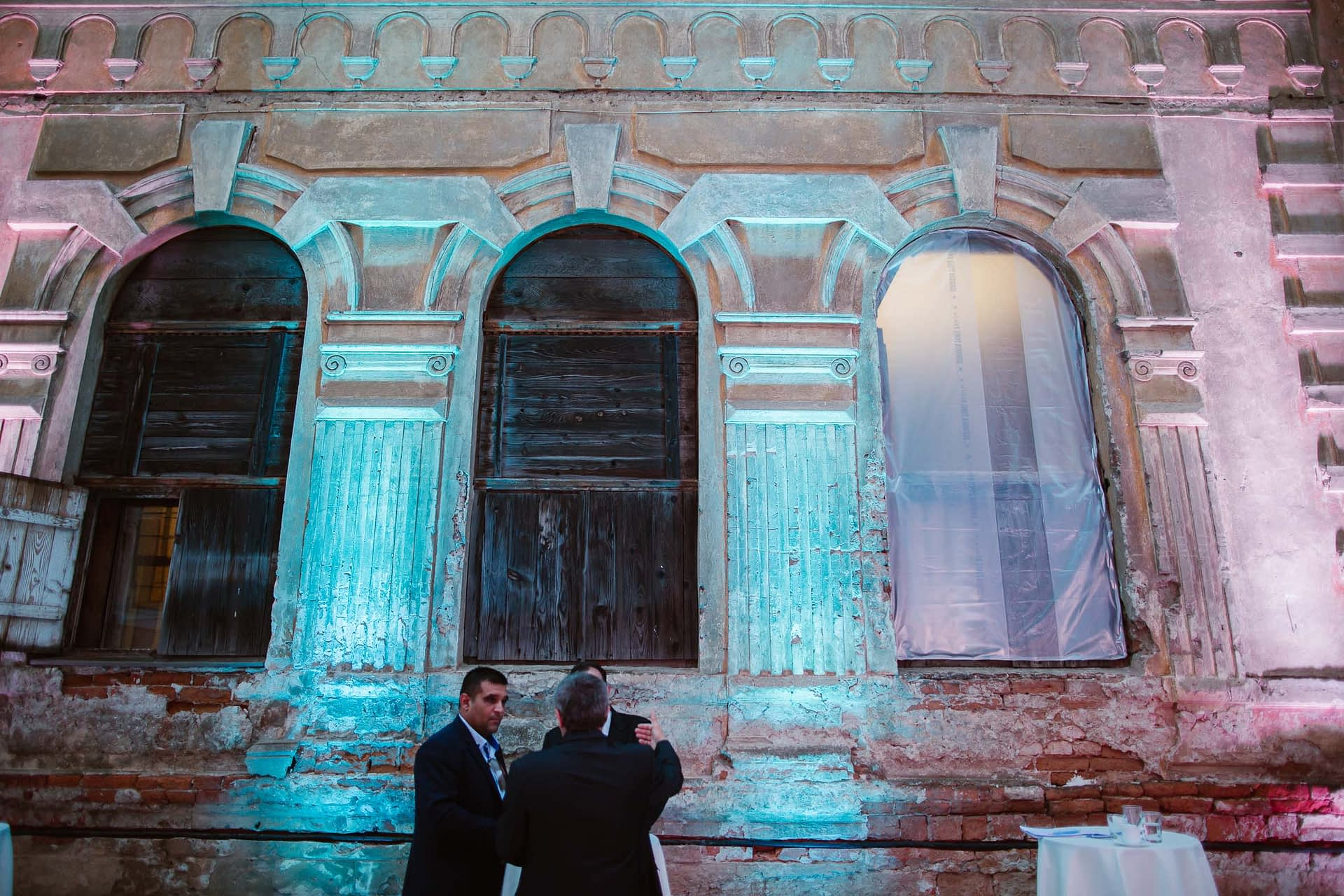 Special lighting on the Old Synagogue