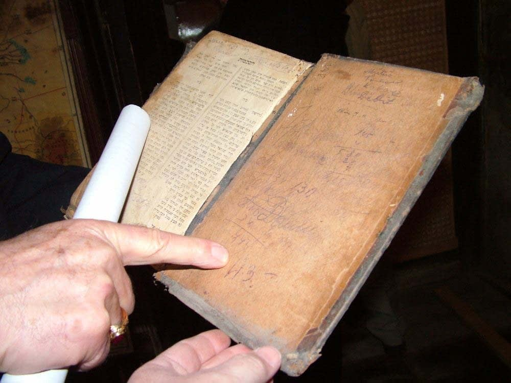 Signature of book's owner on a prayer book