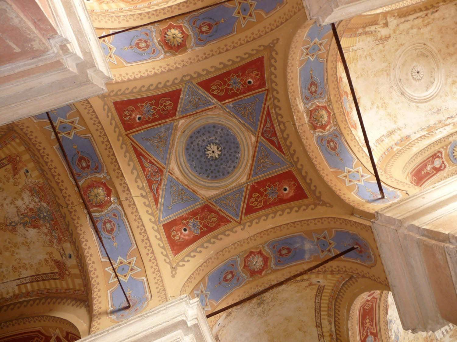 Ceiling decoration above the central Bimah in Bardejov Old Synagogue