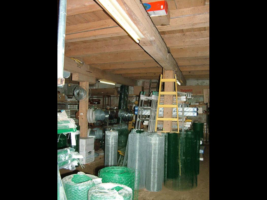 Beith Hamidrash interior occupied by a building supply company
